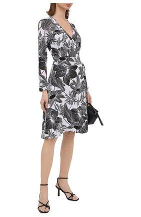 Женское платье из вискозы и шелка DIANE VON FURSTENBERG черно-белого цвета, арт. 15043DVF | Фото 2