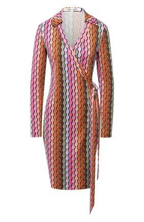 Женское шелковое платье DIANE VON FURSTENBERG разноцветного цвета, арт. 15017DVF | Фото 1