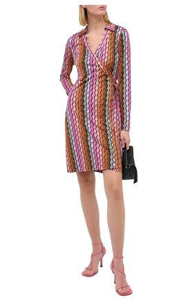 Женское шелковое платье DIANE VON FURSTENBERG разноцветного цвета, арт. 15017DVF | Фото 2