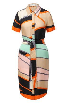 Женское шелковое платье DIANE VON FURSTENBERG разноцветного цвета, арт. 14695DVF | Фото 1