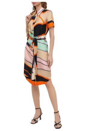 Женское шелковое платье DIANE VON FURSTENBERG разноцветного цвета, арт. 14695DVF | Фото 2
