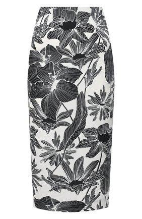 Женская юбка из вискозы и шелка DIANE VON FURSTENBERG черно-белого цвета, арт. 14669DVF | Фото 1