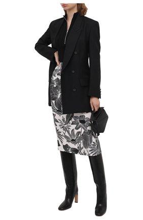 Женская юбка из вискозы и шелка DIANE VON FURSTENBERG черно-белого цвета, арт. 14669DVF | Фото 2