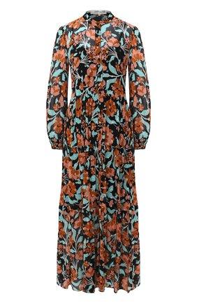 Женское шелковое платье DIANE VON FURSTENBERG разноцветного цвета, арт. 14666DVF | Фото 1