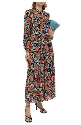 Женское шелковое платье DIANE VON FURSTENBERG разноцветного цвета, арт. 14666DVF | Фото 2