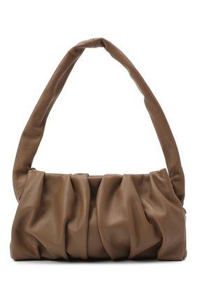 Женская сумка vague ELLEME темно-коричневого цвета, арт. VAGUE/LAMBSKIN | Фото 1