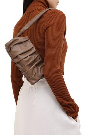 Женская сумка vague ELLEME темно-коричневого цвета, арт. VAGUE/LAMBSKIN | Фото 2