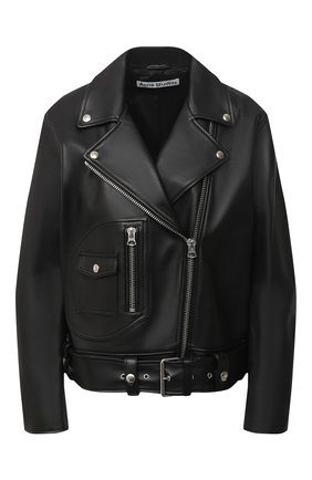 Женская кожаная куртка ACNE STUDIOS черного цвета, арт. A70066 | Фото 1