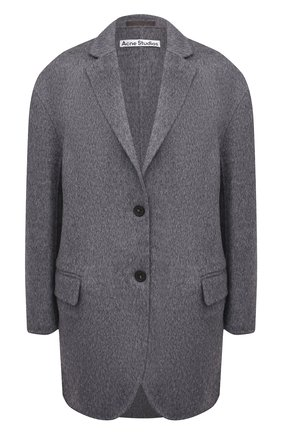 Женское шерстяное пальто ACNE STUDIOS серого цвета, арт. A90318 | Фото 1