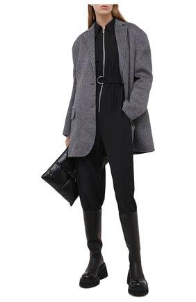 Женское шерстяное пальто ACNE STUDIOS серого цвета, арт. A90318 | Фото 2