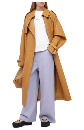 Женские шерстяные брюки ACNE STUDIOS сиреневого цвета, арт. AK0324 | Фото 2