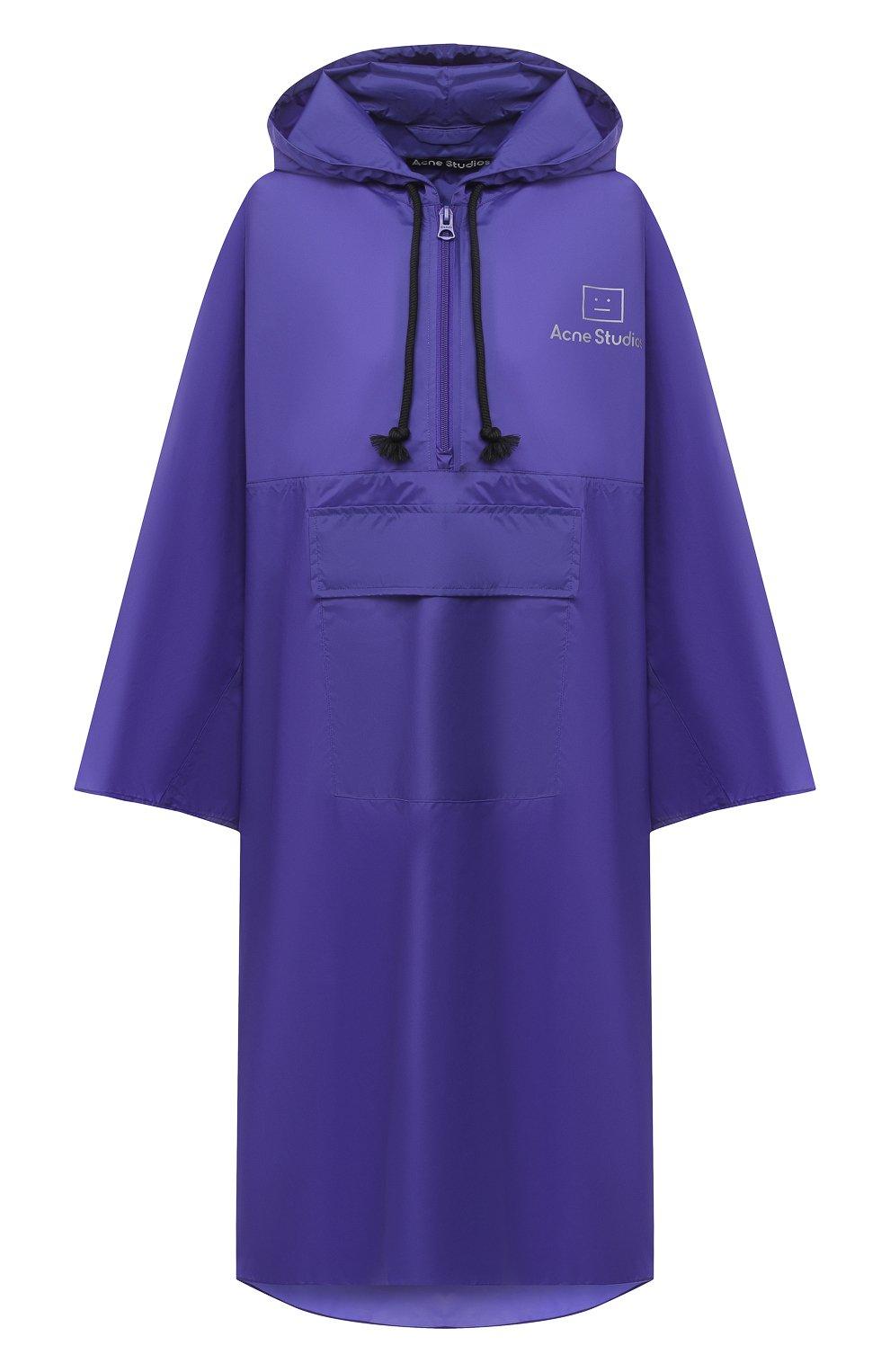 Женский плащ ACNE STUDIOS фиолетового цвета, арт. C90036/W | Фото 1