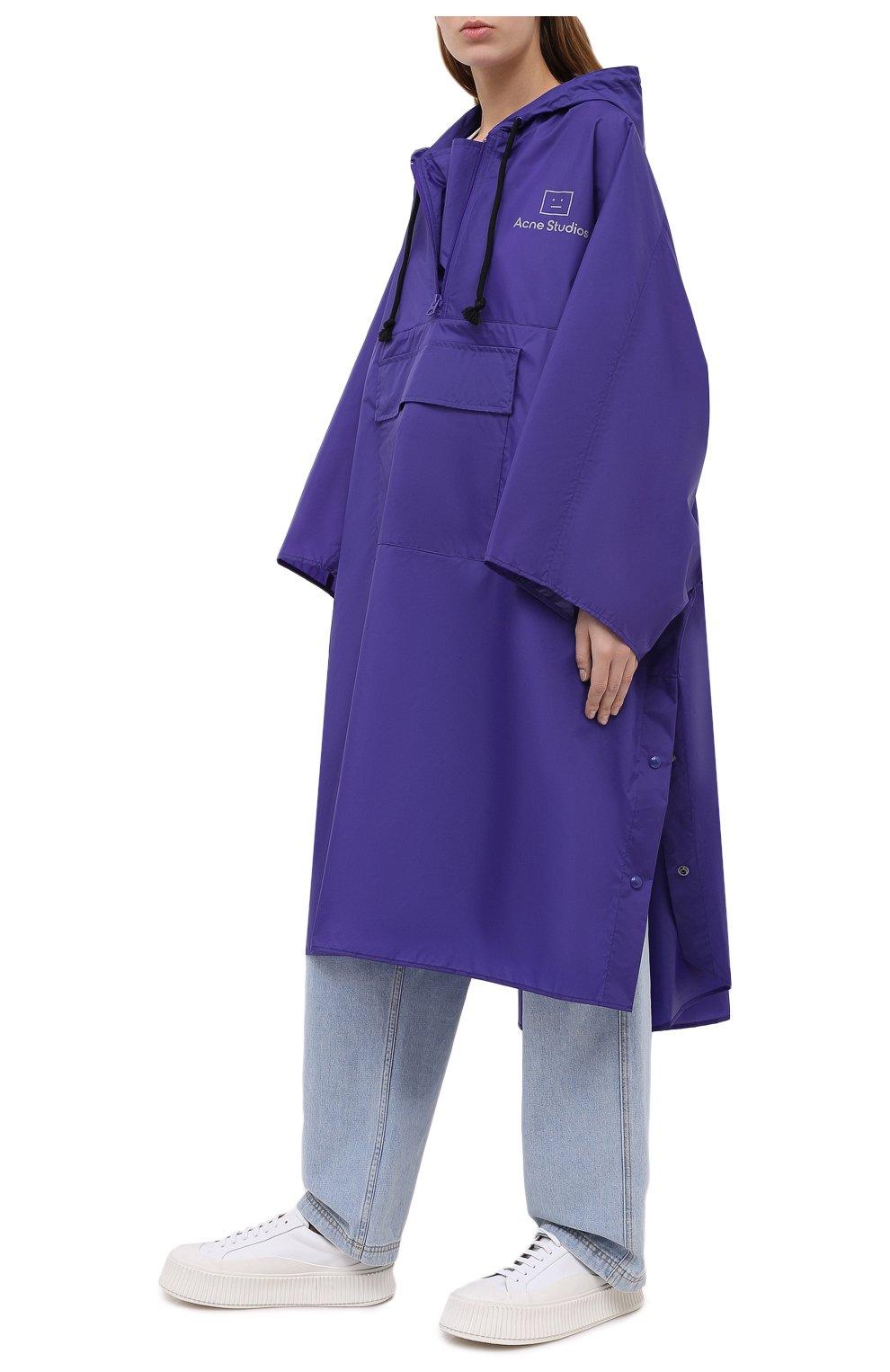 Женский плащ ACNE STUDIOS фиолетового цвета, арт. C90036/W | Фото 2