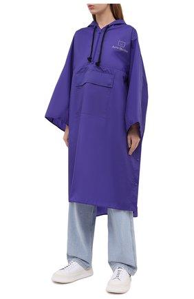 Женский плащ ACNE STUDIOS фиолетового цвета, арт. C90036/W | Фото 3