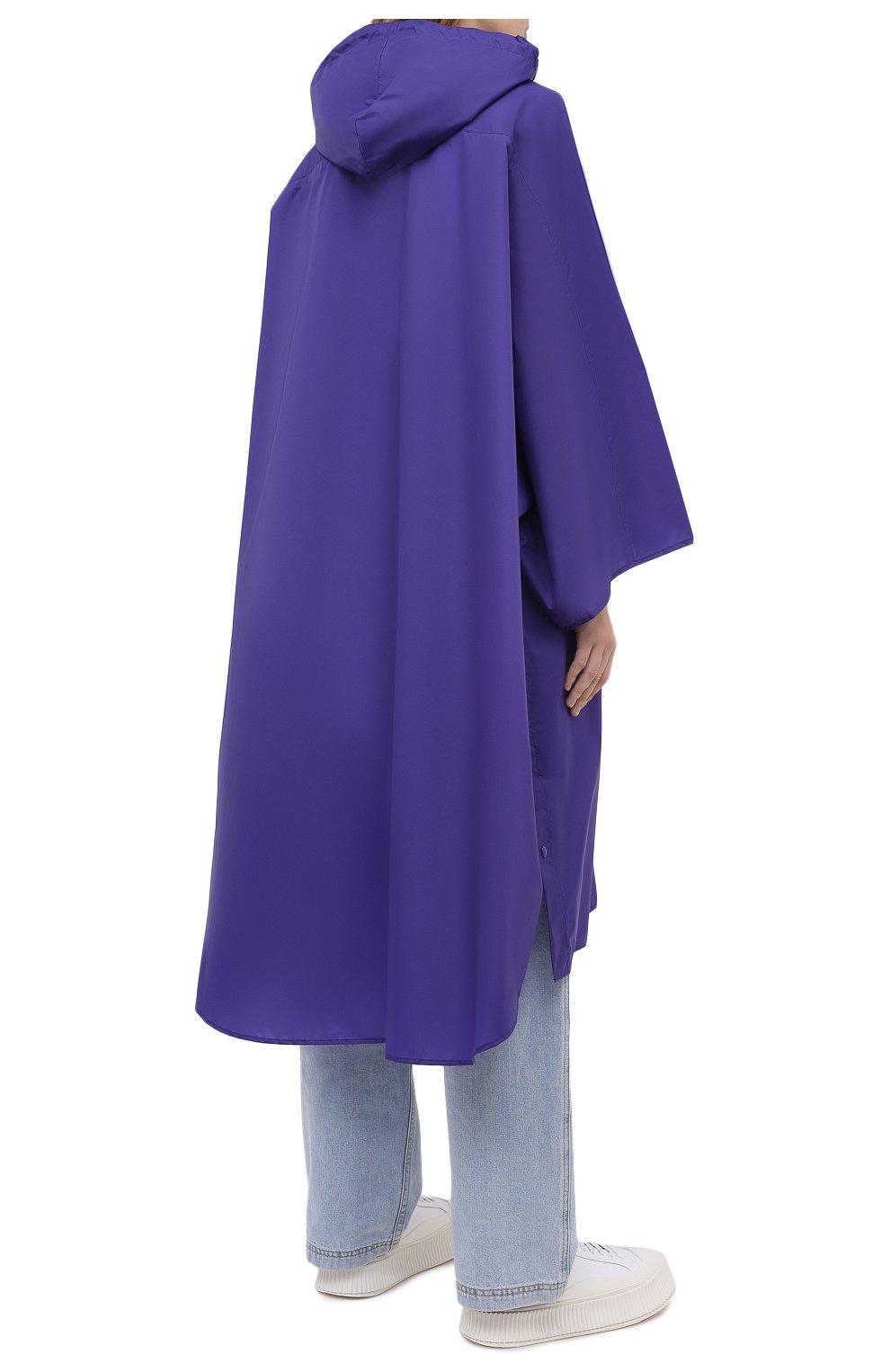 Женский плащ ACNE STUDIOS фиолетового цвета, арт. C90036/W | Фото 4