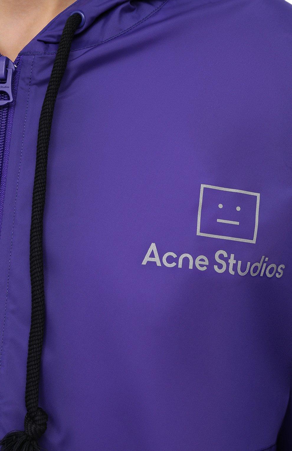 Женский плащ ACNE STUDIOS фиолетового цвета, арт. C90036/W | Фото 5