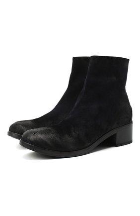Женские замшевые ботинки MARSELL темно-синего цвета, арт. MW2520/PELLE R0VESCI0 | Фото 1