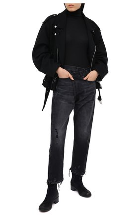 Женские замшевые ботинки MARSELL темно-синего цвета, арт. MW2520/PELLE R0VESCI0 | Фото 2