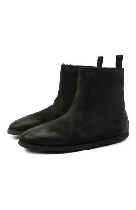Женские замшевые ботинки MARSELL черного цвета, арт. MW5025/PELLE R0VESCI0   Фото 1