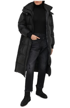 Женские замшевые ботинки MARSELL черного цвета, арт. MW5025/PELLE R0VESCI0   Фото 2