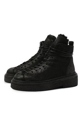 Женские замшевые ботинки MARSELL черного цвета, арт. MW5117/PELLE R0VESCI0 | Фото 1