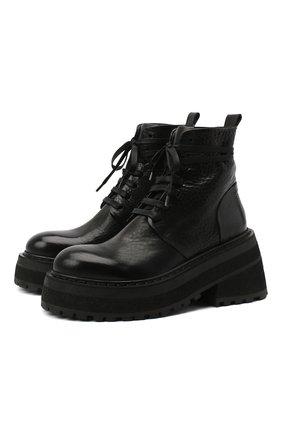 Женские кожаные ботинки MARSELL черного цвета, арт. MW5596/PELLE V0L0NATA | Фото 1