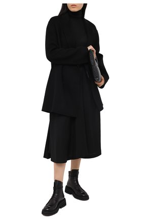 Женские кожаные ботинки MARSELL черного цвета, арт. MW6036/PELLE VITELL0 | Фото 2