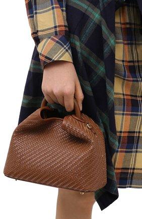 Женская сумка boazi ELLEME коричневого цвета, арт. BA0ZI/W0VEN LEATHER | Фото 2