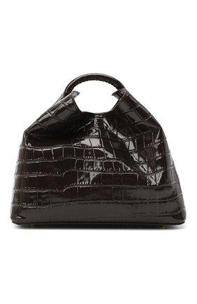 Женская сумка raisin ELLEME темно-коричневого цвета, арт. RAISIN/CR0C0 PRINT LEATHER | Фото 1