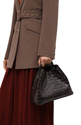 Женская сумка raisin ELLEME темно-коричневого цвета, арт. RAISIN/CR0C0 PRINT LEATHER | Фото 2