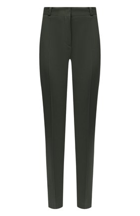Женские хлопковые брюки LORO PIANA хаки цвета, арт. FAI8366 | Фото 1