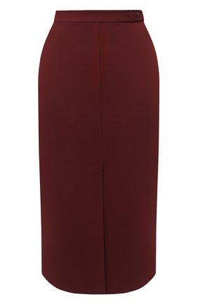 Женская шерстяная юбка LORO PIANA бордового цвета, арт. FAL3667 | Фото 1