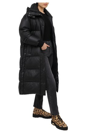 Женский кожаный пуховик YS ARMY PARIS черного цвета, арт. 21WFM04020A24X | Фото 2
