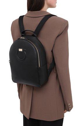 Женский рюкзак gancini SALVATORE FERRAGAMO черного цвета, арт. Z-0726260 | Фото 2