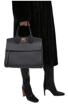 Женская сумка SALVATORE FERRAGAMO серого цвета, арт. Z-0737554   Фото 2