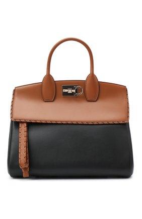 Женская сумка SALVATORE FERRAGAMO коричневого цвета, арт. Z-0734414 | Фото 1