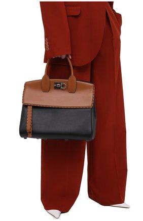 Женская сумка SALVATORE FERRAGAMO коричневого цвета, арт. Z-0734414 | Фото 2