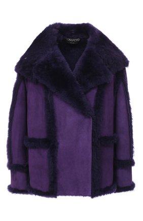 Женская дубленка TOM FORD фиолетового цвета, арт. CSF630-FUX120 | Фото 1