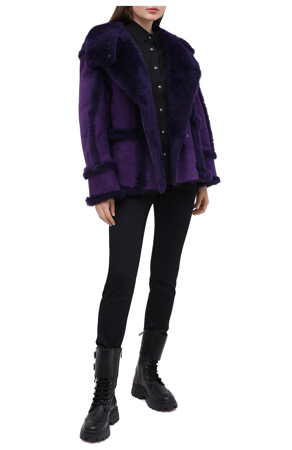 Женская дубленка TOM FORD фиолетового цвета, арт. CSF630-FUX120 | Фото 2
