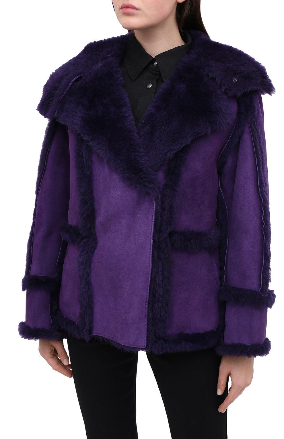 Женская дубленка TOM FORD фиолетового цвета, арт. CSF630-FUX120 | Фото 3