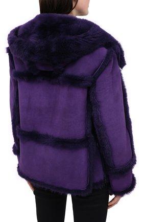 Женская дубленка TOM FORD фиолетового цвета, арт. CSF630-FUX120 | Фото 4