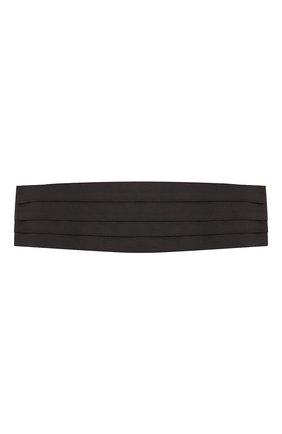 Мужской шелковый камербанд BRIONI черного цвета, арт. 000100/PZ418 | Фото 1