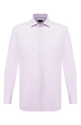 Мужская хлопковая сорочка ERMENEGILDO ZEGNA сиреневого цвета, арт. 801225/9RS0BR | Фото 1
