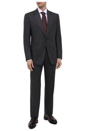 Мужская хлопковая сорочка ERMENEGILDO ZEGNA сиреневого цвета, арт. 801225/9RS0BR | Фото 2