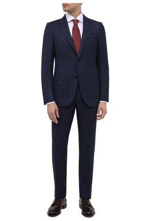 Мужской костюм из шерсти и шелка ERMENEGILDO ZEGNA синего цвета, арт. 822586/221225 | Фото 1