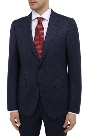 Мужской костюм из шерсти и шелка ERMENEGILDO ZEGNA синего цвета, арт. 822586/221225 | Фото 2