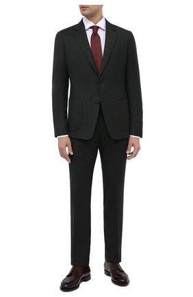 Мужской шерстяной костюм Z ZEGNA темно-зеленого цвета, арт. 824716/2X7YGX | Фото 1