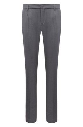 Мужские шерстяные брюки LORO PIANA серого цвета, арт. FAL4061 | Фото 1 (Материал внешний: Шерсть; Длина (брюки, джинсы): Стандартные; Случай: Формальный; Стили: Классический)