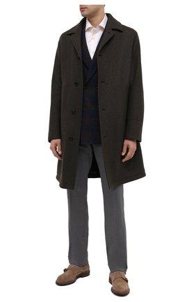 Мужские шерстяные брюки LORO PIANA серого цвета, арт. FAL4061 | Фото 2 (Материал внешний: Шерсть; Длина (брюки, джинсы): Стандартные; Случай: Формальный; Стили: Классический)