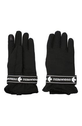 Мужские перчатки DSQUARED2 черного цвета, арт. GLM0011 11703502 | Фото 2